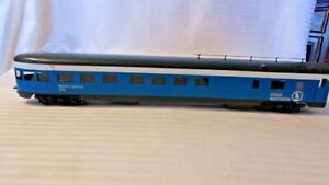 HO Scale Balboa Great Northern Blue Sky Observation Car Painted Lighted #1193