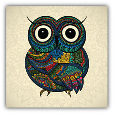Patterned Owl Car Bumper Sticker Decal 5'' x 5''