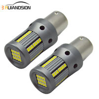 White/Yellow 1156 P21W 2016 66 SMD LED Car Turn Signal Light Front/Rear Lamp 12V
