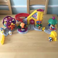 Fisher Price Little People Fairground Fun Park Ferris Wheel Roller Coaster Rides