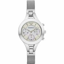 3801e4c4f1c Emporio Armani Womens Ladies Chronograph Wrist Watch Stainless Steel AR7389