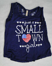"Run Way Girl ""Just a Small Town Girl"" shirt Size 8, Adorable 4th july memorial"