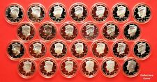 1992-2018 S Kennedy Half Set wALL 27 90% SILVER Proofs Set in Direct Fit Holders