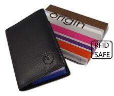 58210cd41a1e96 BOXED Mala Leather credit card holder RFID mens new 610 5 black ID holder  RFID