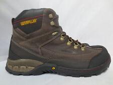 Men's Brown Caterpillar Work Boot Waterproof Steel Toe Size 13 Wide #90229