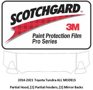 3M SCOTCHGARD PRO PAINT PROTECTION FILM 14-21 TOYOTA TUNDRA HOOD FENDERS MIRRORS
