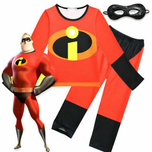 Boys Incredibles Costume Children's Fancy Dress World Book Day Cosplay Eye Mask