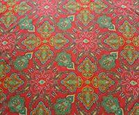 Liberty Tana Lawn Cotton Fabric LADY PAISLEY 'C' 2.0m Red Paisley Design 200cm