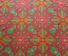Liberty Tana Lawn Cotton Fabric LADY PAISLEY 'C' 2.0m Red Paisley Design 200cm