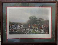 "BRITISH FOX HUNT PRINT ""SIR RICHARD SUTTON & THE QUORN HOUNDS"""