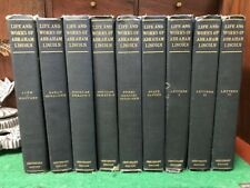 LIFE AND WORKS OF ABRAHAM LINCOLN (9 Vols.) 1907 Centenary Edition Illustrated!