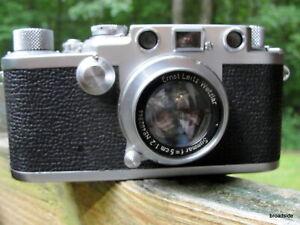 Leica Ernst Leitz Wetzlar 111f camera w/ Summar f=5cm 1:2 lens  1952-3