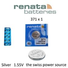 1 x Renata 371 1.55v Watch Coin / Cell Battery SR920SW Mercury Free