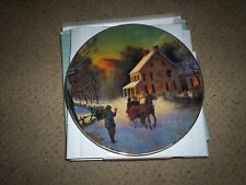 Avon Home For The Holidays Christmas Plate 1988 In Original Box