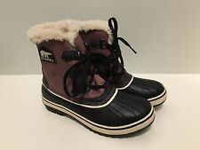 Sorel Caribou Waterproof Women Snow Boots Size US 7.5 Pink/Purple