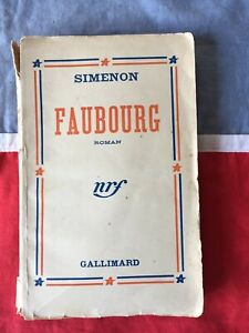 Georges SIMENON Faubourg Nrf Gallimard 1938