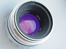 Lens Helios-44  Biotar KMZ 8 blades white 2/58 M39 SLR camera Zenit Russian USSR