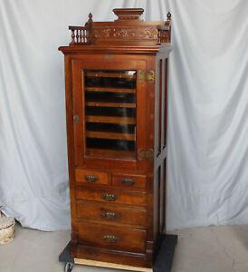 Antique Walnut Dental Storage Cabinet – Harvard Company -