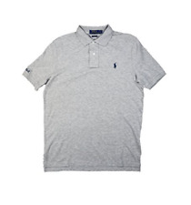RALPH LAUREN Men's Embroidered Cotton Rugby Polo Shirt, Sprn Hethr, XXL