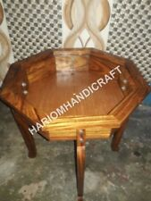 """15""""H Wooden Amazing Wood Base Table Top Stand Interior Home Decor E551(1)"""
