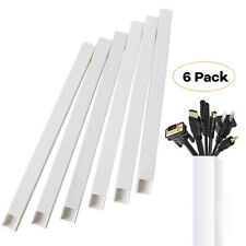 DJB Cable Trunking,Cable Management Kit,Open Slot Self Adhesive Wall Cable Tidy Cable Cord Cover Cable Concealer Raceway For Home And Office Use White
