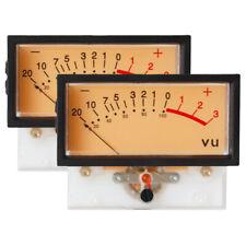 SD-740 -B Panel VU Meter + Frame If=500uA 650Ω 12V Amber lamp SD FlashStar fgad