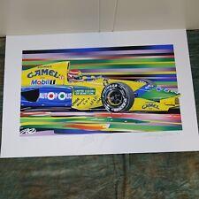 Nelson Piquet, Benetton Formula 1 Randy Owens Signed, 31/130, 1991, unframed