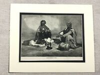 1875 Print Indian Snake Charmer Traditional Indian Dress Antique Original