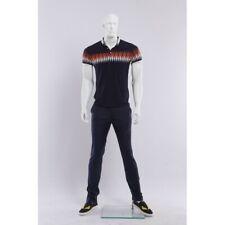 Male display mannequin+base, White, Muscular men, Hand made full body manikin