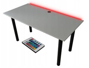 Gaming Tisch LED Beleuchtung  PC Schreibtisch Bürotisch 120x60 cm Computertisch