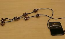 BNWT-Long-Facet Cut Bronze Tone Bead/Soft Faux Suede Necklace-Approx Drop 36 cm