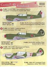 Print Scale Decals 1/72 RUSSIAN CURTISS P-40 KITTYHAWK Fighter