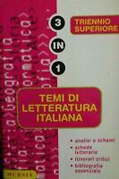 Temi di letteratura italiana per il triennio superiore Mursia