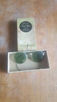 VINTAGE ANTIQUE AMERICAN OPTICAL AO FUL-VUE 23 SAFETY GOGGLE SUNGLASSES