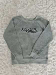 Edge hill university Jumper Grey Pullover Long Sleeves Size L Oversized unisex