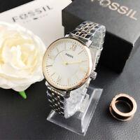 Luxury Watch Stainless Steel Fossil Watch Woman & Men Business Casual Watch