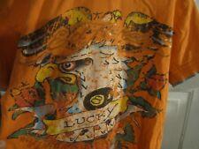 Ed Hardy by Christian Audigier Boys T-shirt Sz 4/5 Kids Vintage Tattoo Lucky