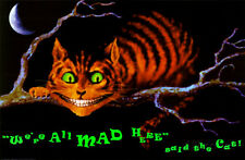 We're All Mad Here Blacklight Poster Print, 36x24