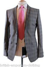 Bnwt HOLLAND ESQUIRE GRIGIO Tailored Fit P.O.W. controllare TONIC Lana Suit UK38