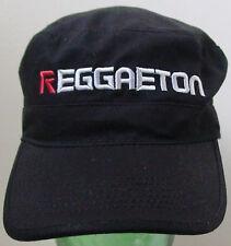 CAP ~ REGGAETON - Official Hat BLACK 100% COTTON Ball Cap - PRE CURVED VISOR