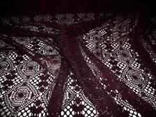 Círculos lace-wine-dress fabric-free de envío