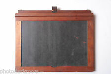 "5x7"" Dry Plate Glass Film Holder Wood 7x5"" Horizontal Format - USED LF83"