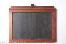 "5x7"" Dry Plate Glass Film Holder Wood 7x5"" Horizontal Format - USED LF83"