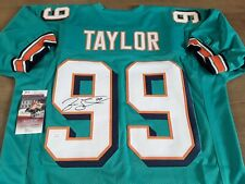 More details for miami dolphins hof - jason taylor #99 - signed jersey - nfl - jsa authentic