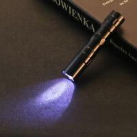 Mini Portable Torch Led Clip Small Pen Flashlight Penlight Lamp Pocket Light DP