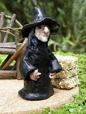 Miniature Dollhouse FAIRY GARDEN Accessories ~ Rustic HALLOWEEN Witch