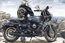 """HARLEY SOA SONS OF ANARCHY JAX TELLER 20x30"""" Stretched Canvas Art Print"""