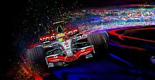 Automotive Racing Car Art LEWIS HAMILTON F1 CHAMPIONSHIP  large CANVAS print