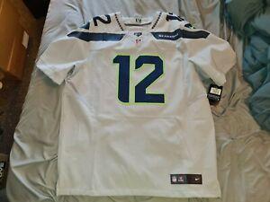FAN #12 Seattle Seahawks GRAY Authentic Nike Elite Football Jersey sz 52 NWT