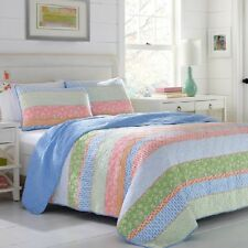 Quilted Bedding Set Queen Comforter Cotton Bed Cove Nautical Seaside Beach